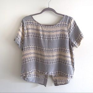 Anthropologie 100% Silk Laila & Savannah Boho Top